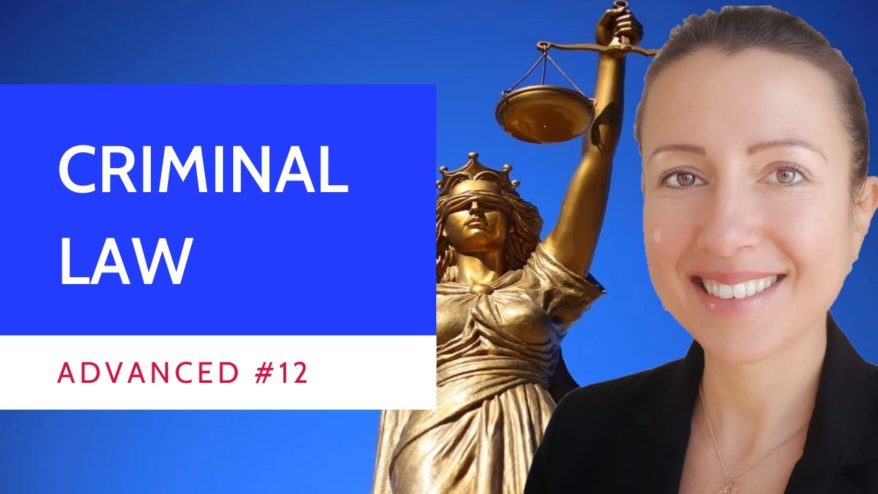 Advanced #12 Criminal #law introduction in #French
