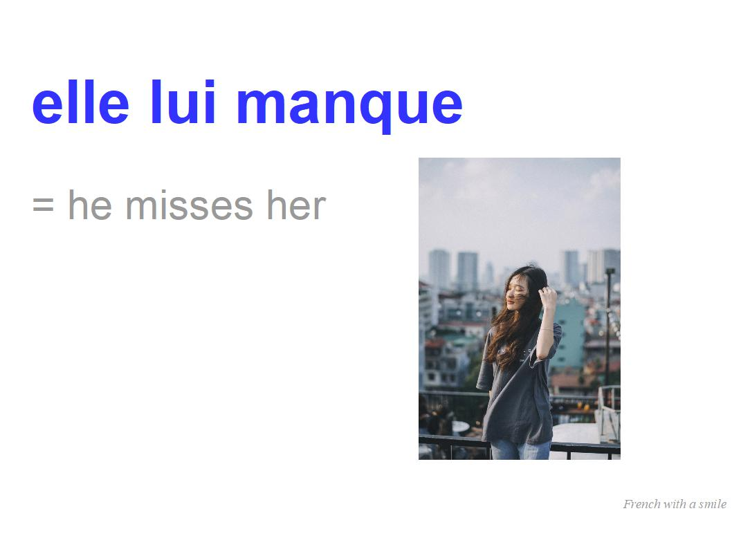 Intermediate #4 The verb To Miss MANQUER in #French
