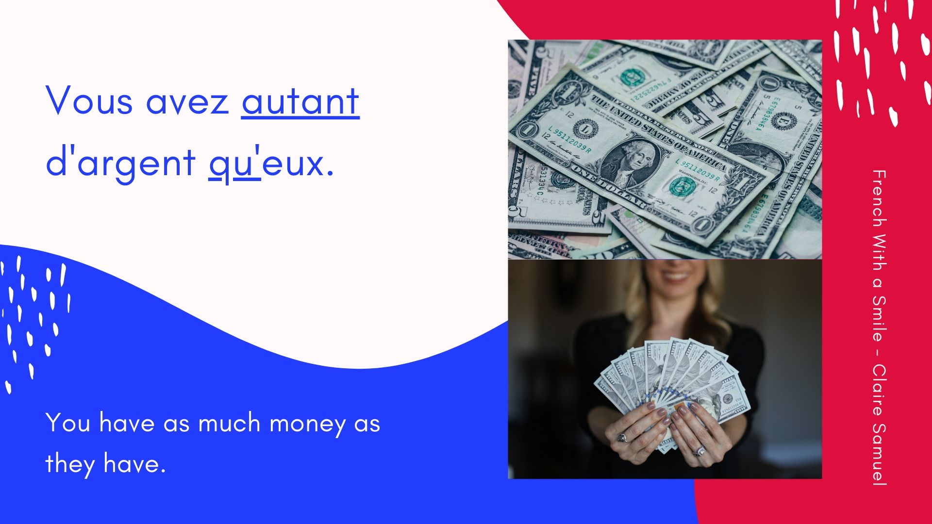 Advanced #8 AUTANT QUE and AUSSI QUE fully explained #French lesson