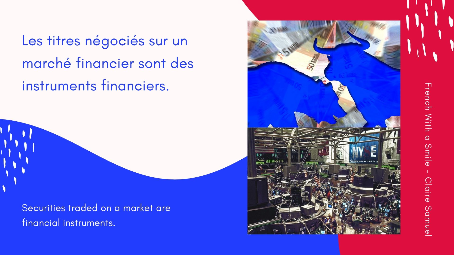 Beginner #9 Finance vocabulary in #French