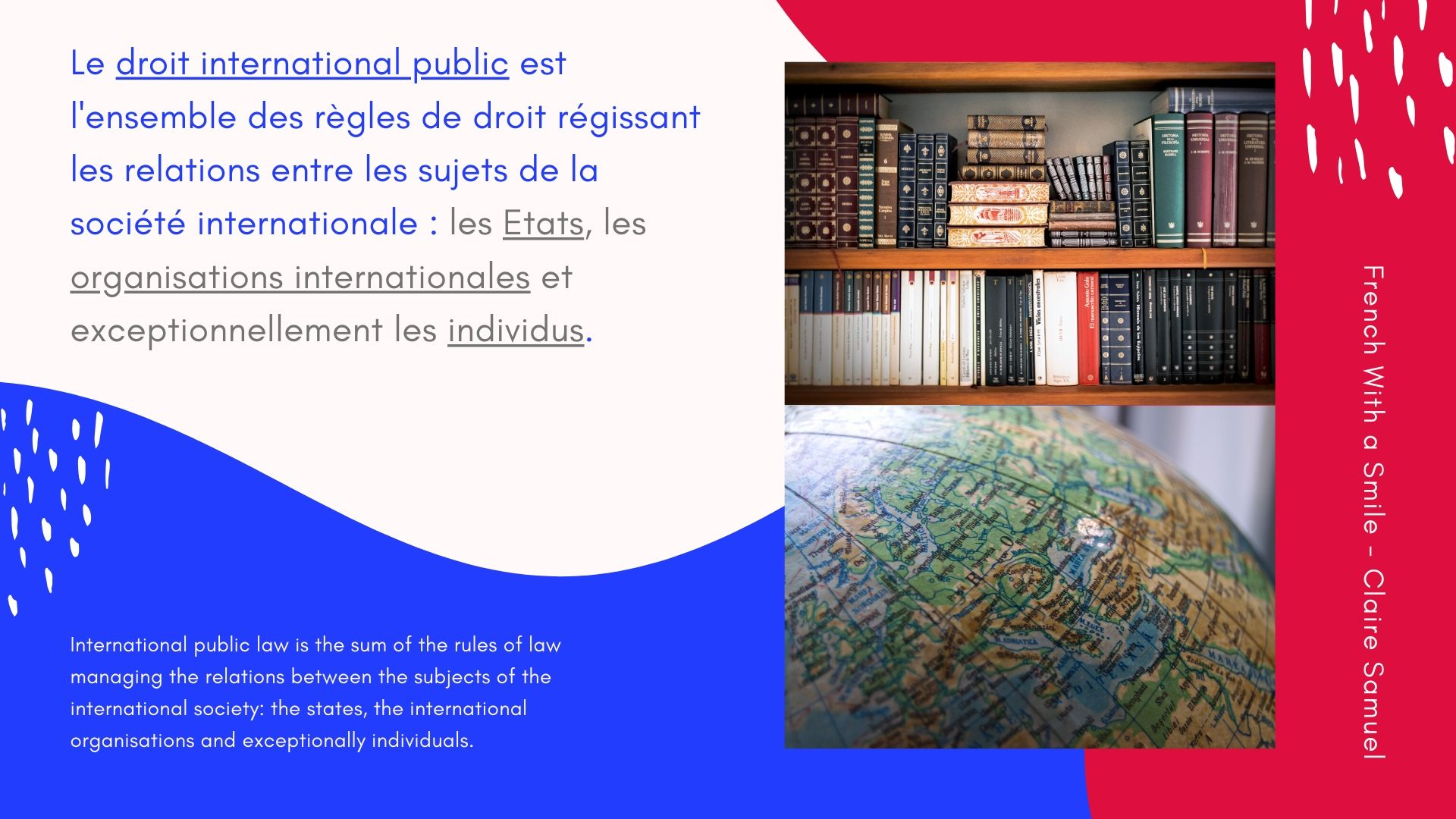 Advanced #11 International public #law introduction in #French