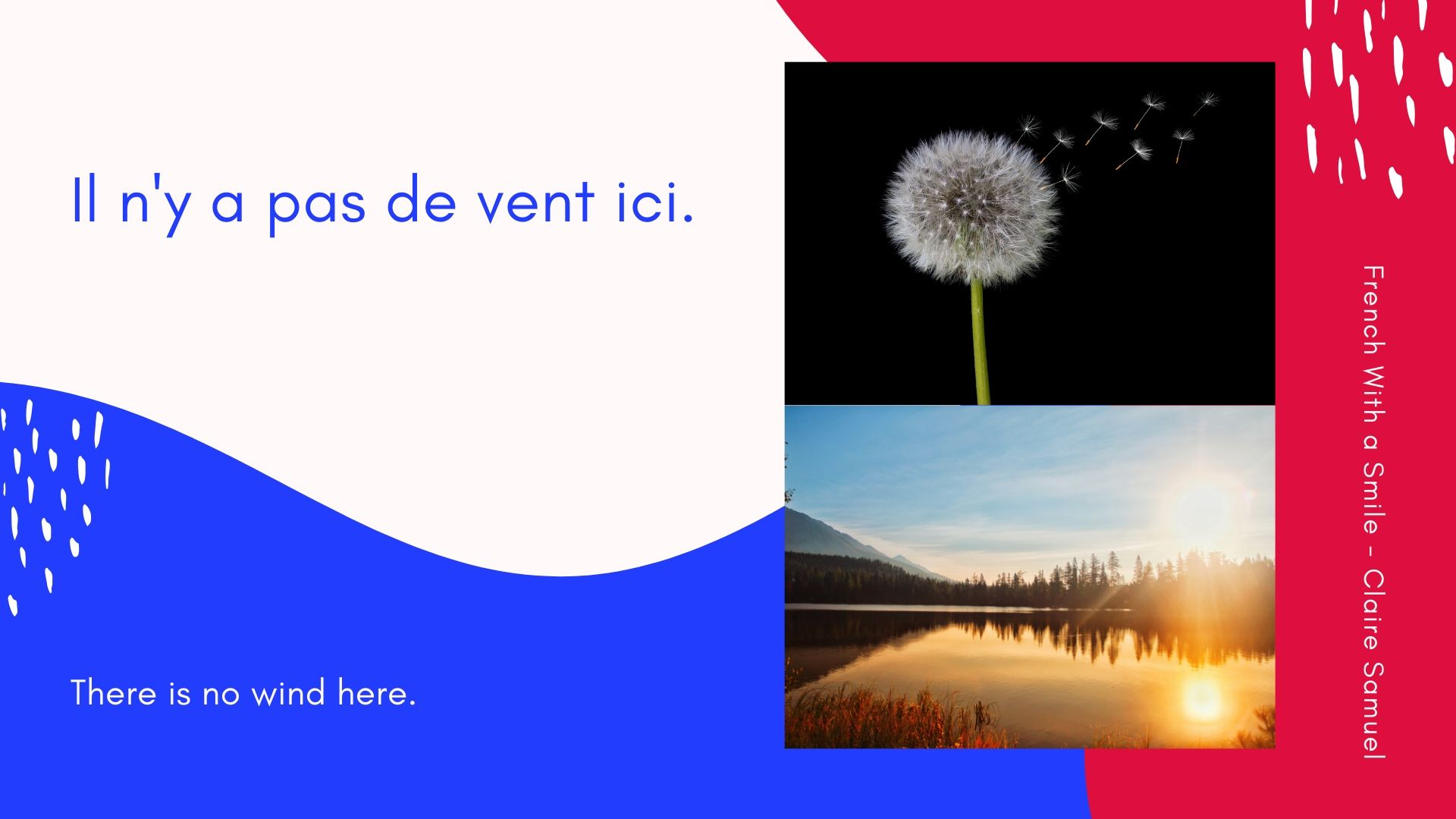 Beginner #12 #Weather vocabulary and sentences in #French