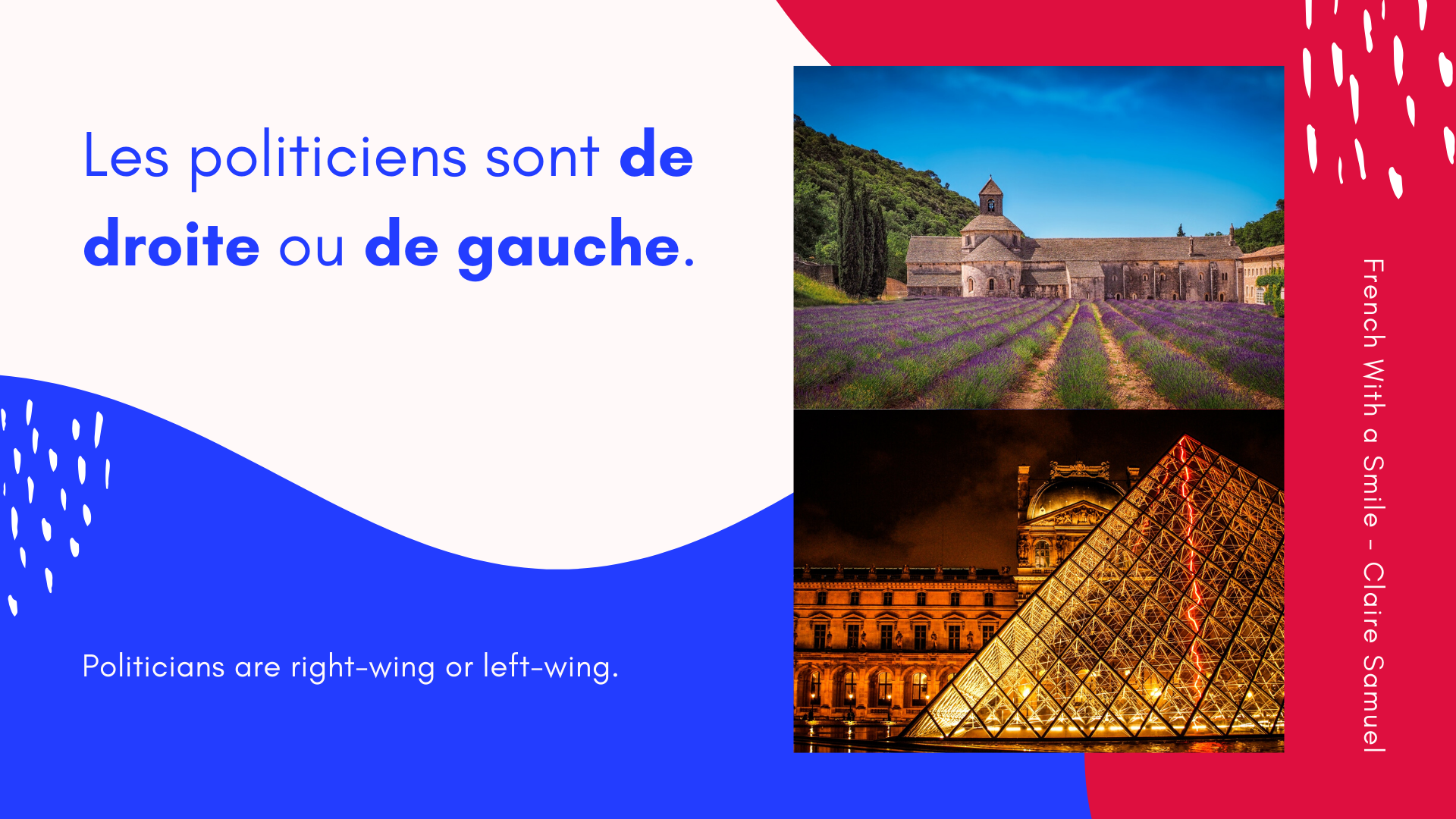 Beginner #19 #Politics in France #French #vocabulary and simple sentences