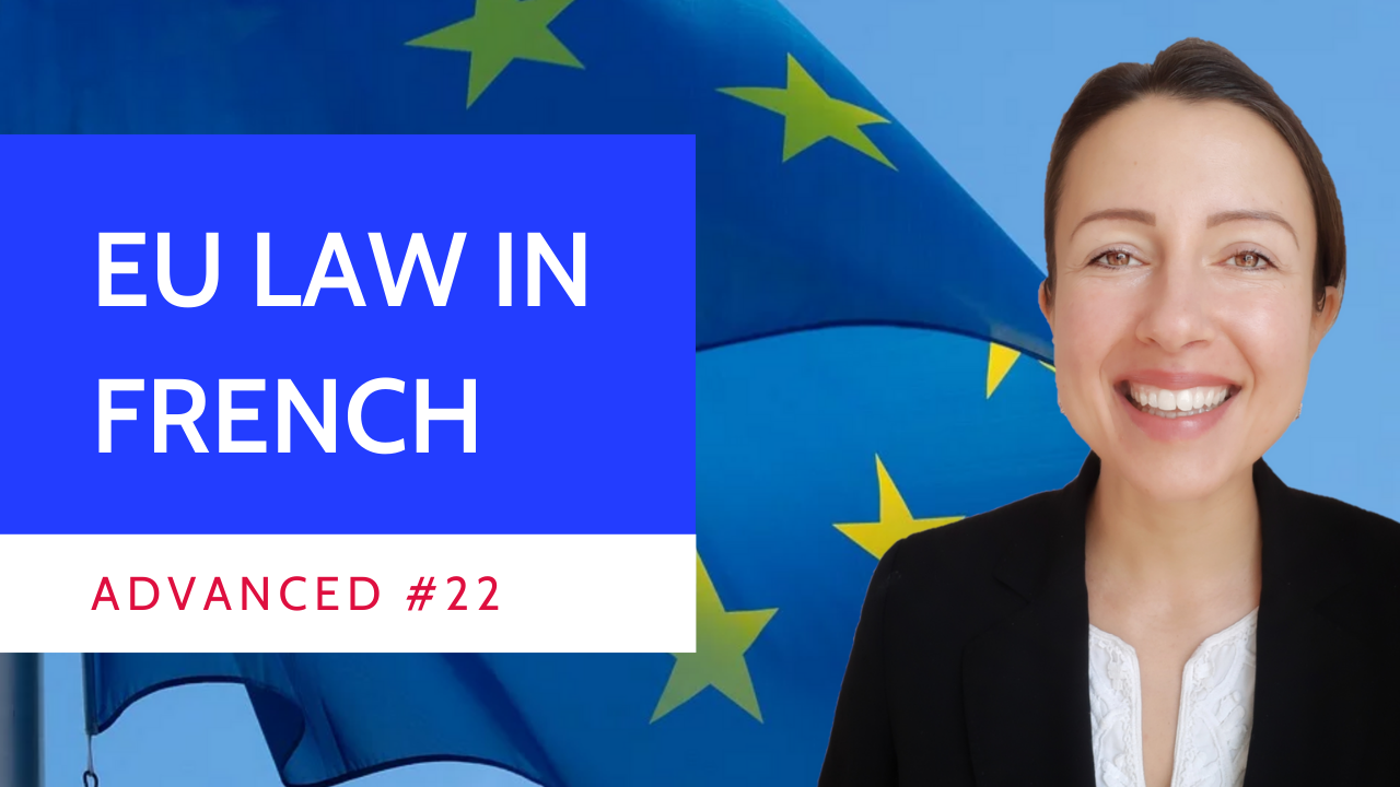 Advanced #22 European Union law introduction in French ou Droit de l'Union européenne