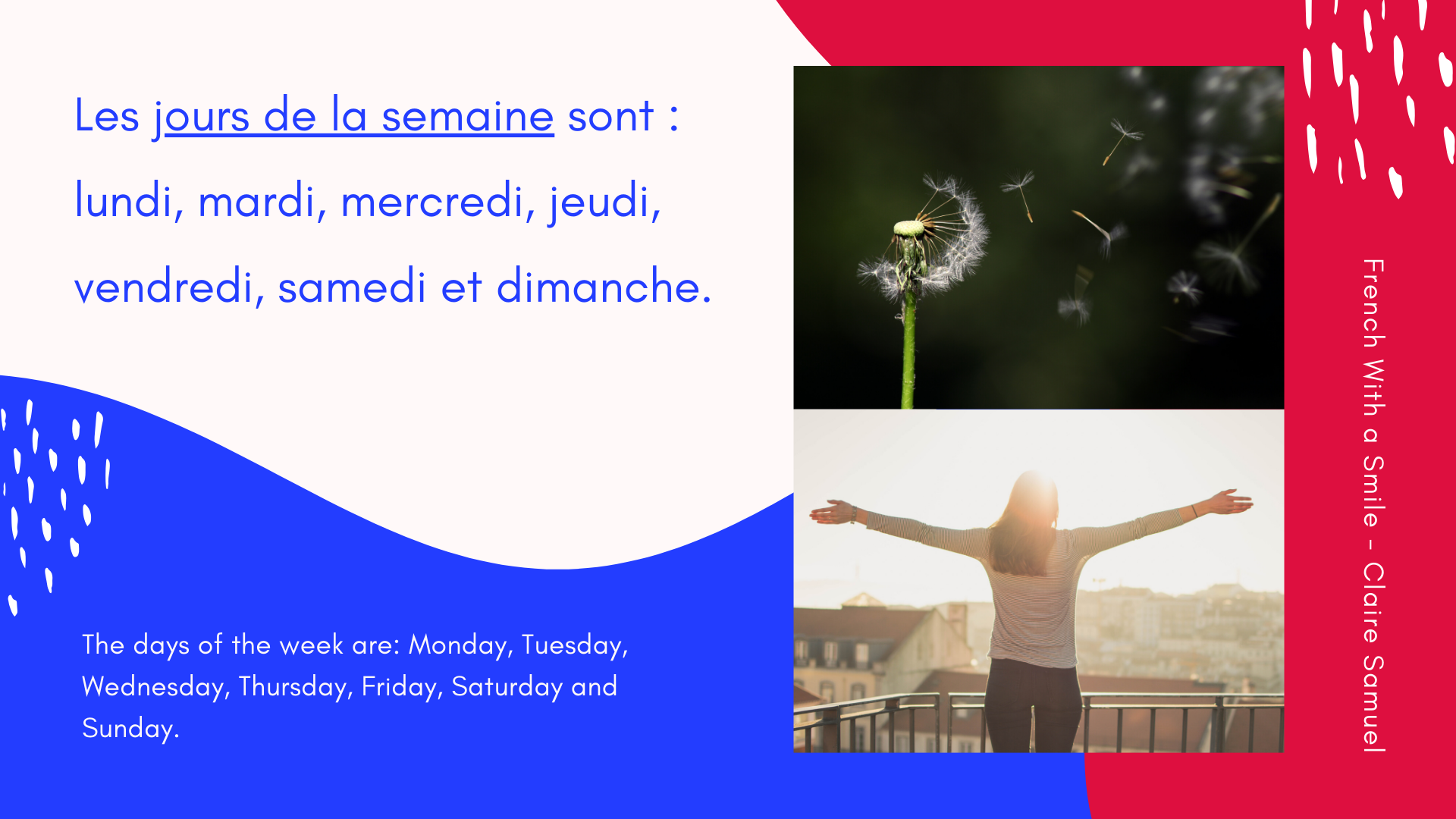 Beginner #21 How to tell the date in French with days months years and seasons in whole phrases