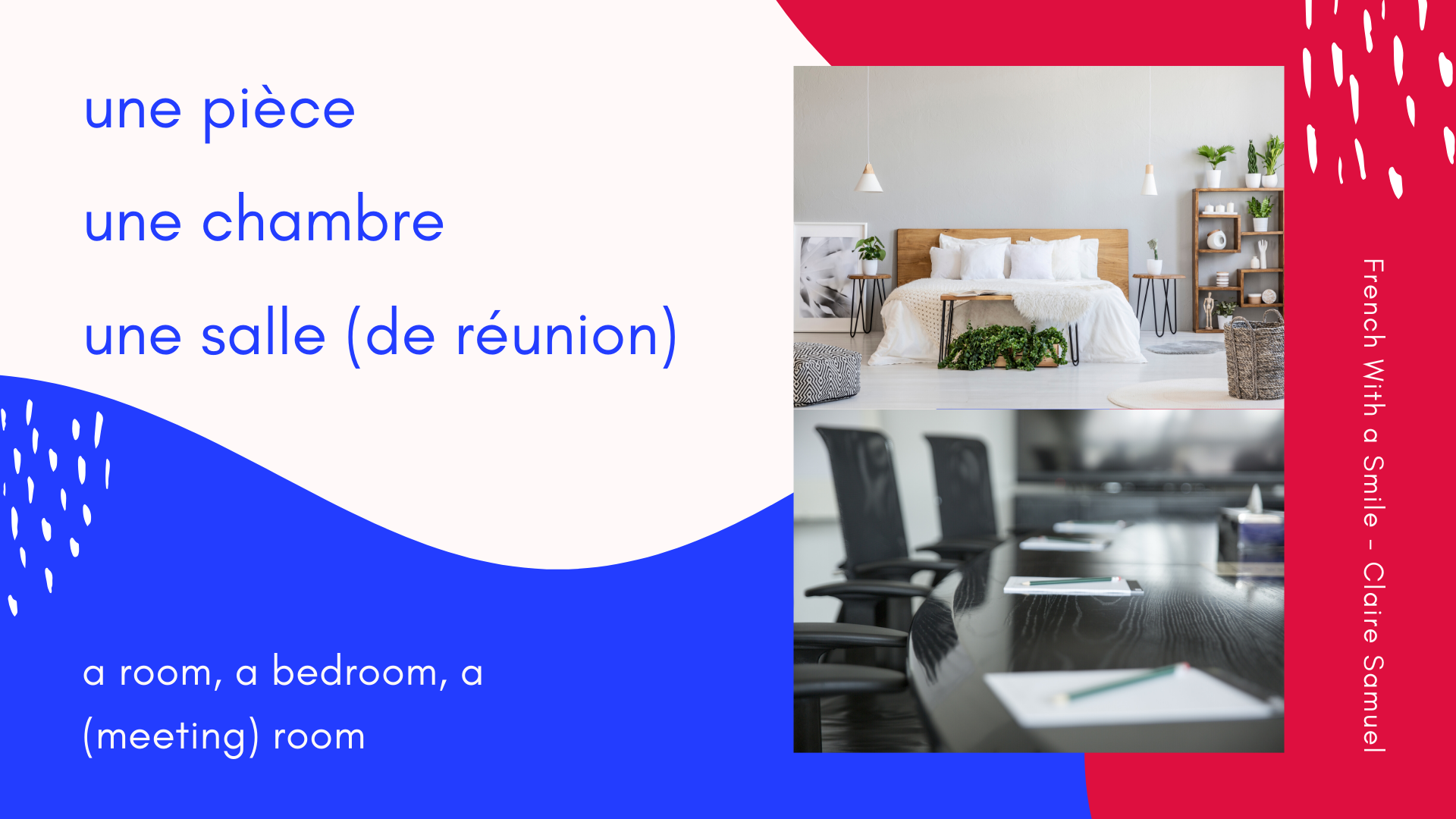 Beginner #23 French vocabulary lesson around the rooms of the house or Les pièces de la maison