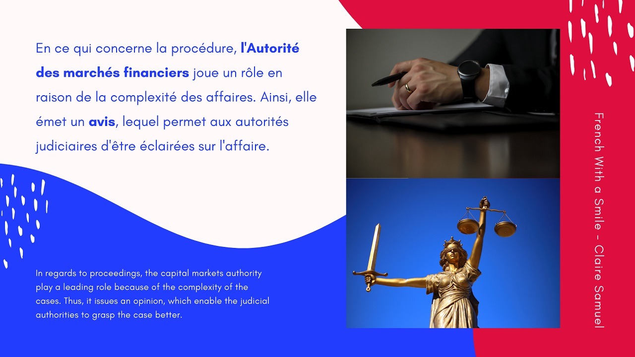 Advanced #23 Legal French Insider trading vocabulary and phrases for advanced learners Délit d'initié