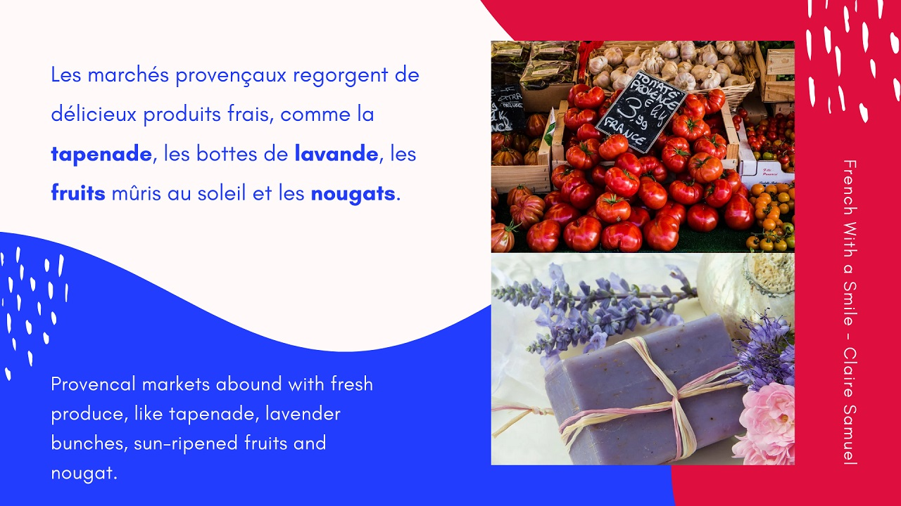 Intermediate #24 Talk in French about Provence with vocabulary and sentences to practice pronunciation