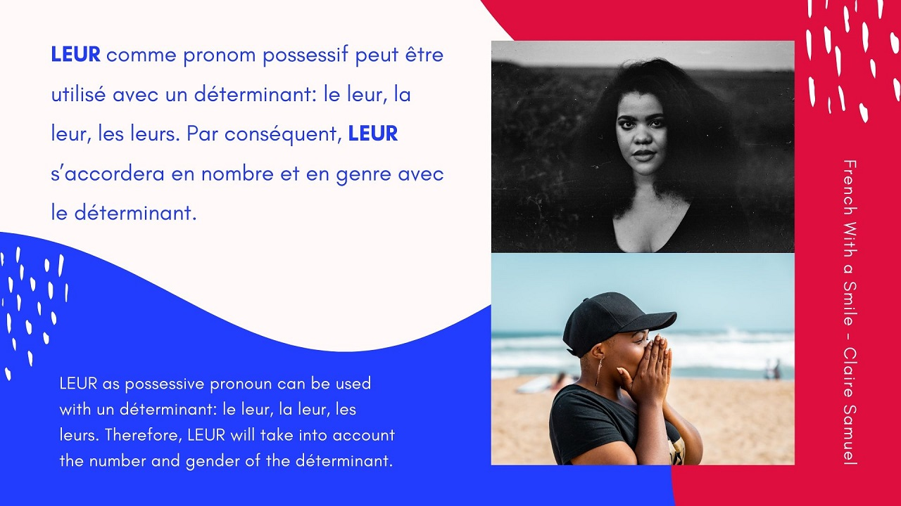 Intermediate #31 LEUR in French personal pronoun or possessive déterminant?