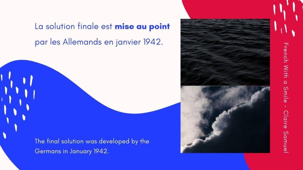 Intermediate #46 Second World War in French