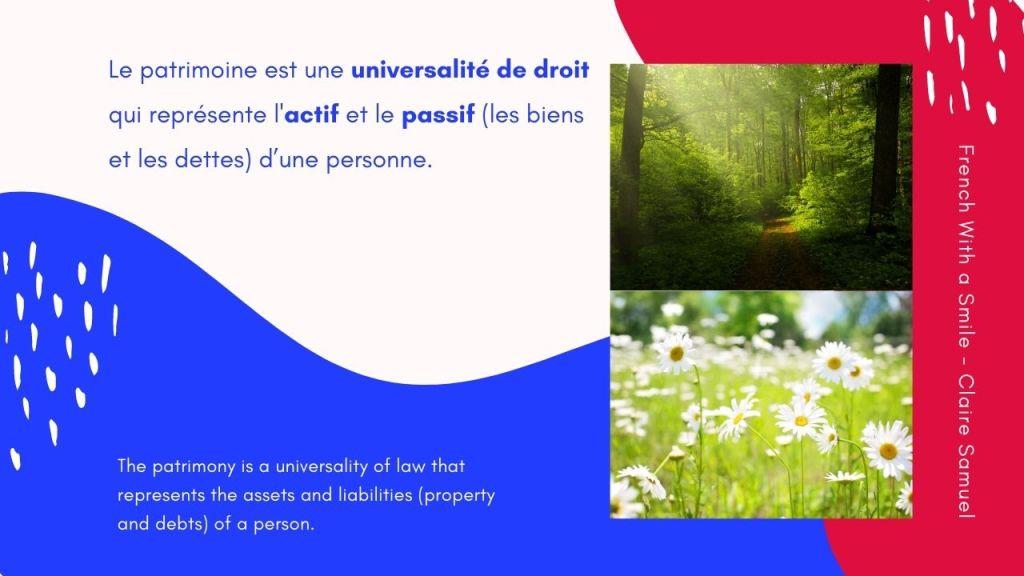 Advanced #48 Legal French La notion de patrimoine