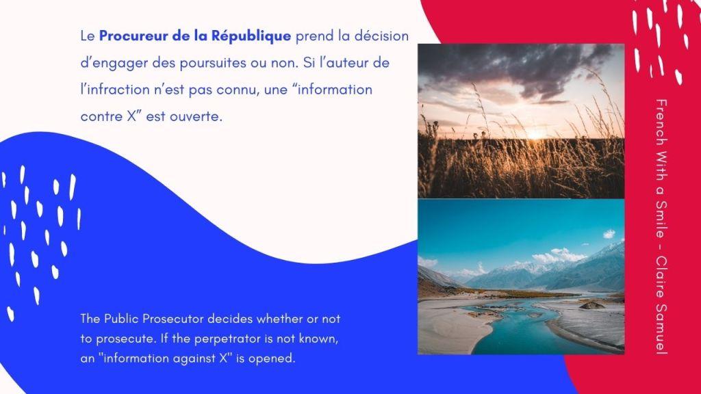 Advanced #52 Legal French Criminal procedure