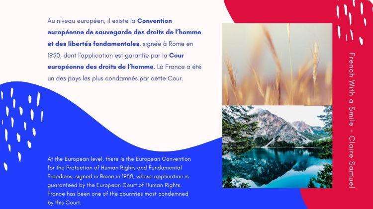 Advanced #58 Legal French Sources internationales des libertés publiques