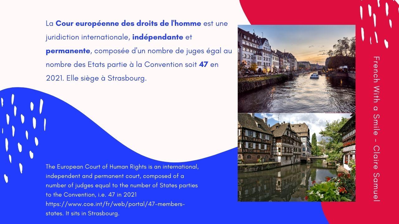Advanced #59 Legal French La Cour européenne des droits de l'homme