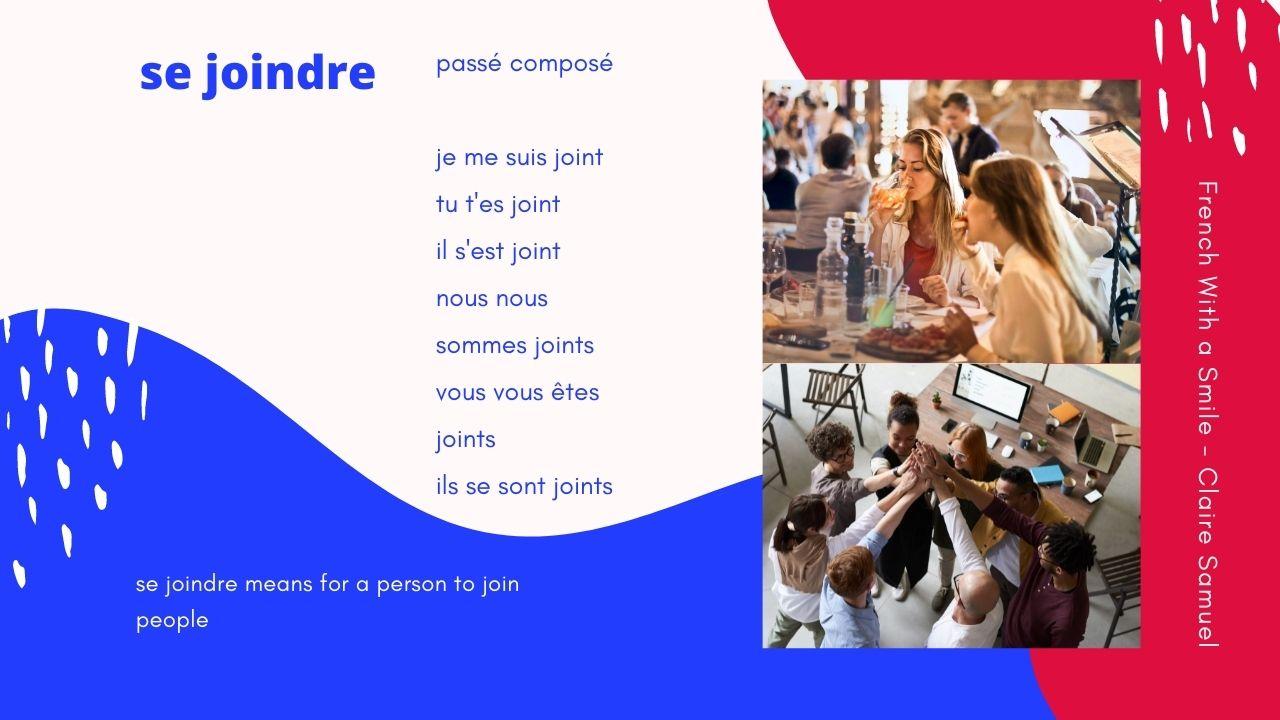 Live #39 - French verbs joindre se joindre rejoindre